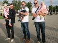 Varžybų dalyviai  A.Klimašauskas, M.Šližys ir L.Miežlaiškis su atžalomis