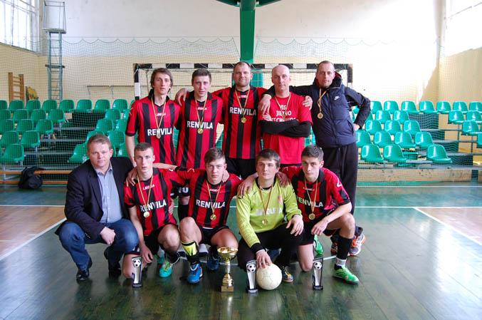 """Salės futbolo pirmenybių nugelėtoja - """"Jiezno"""" komanda"""
