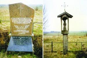Paminklinis ansamblis šiose kapinėse slapta palaidotų žuvusių Tauro apygardos Geležinio Vilko rinktinės partizanų atminimui.