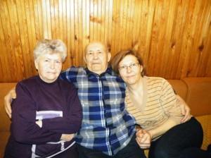 A. Šajauka - su žmona Janina ir dukra Sonata.