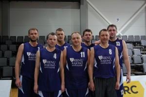 """IV vietą pelnė """"Savivaldybės"""" komanda."""
