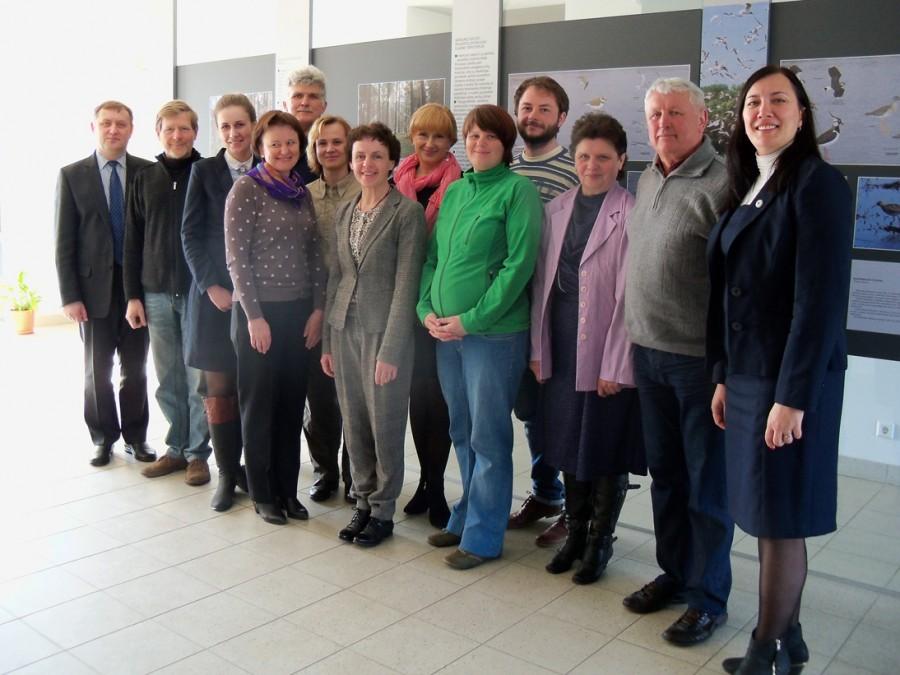 NKRP Produkto ženklo komisijos nariai ir ženklo turėtojai.