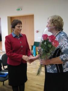 LASS Prienų filialo narių padėka pirmininkei I.Karsokaitei.