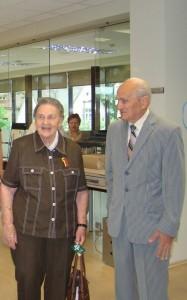A.S.Zenkevičius - su lietuvių istorijos tyrinėtoja J.Statkute de Rosales Birštone.