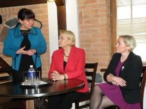 Susitikimo Prienų globos namuose metu buvo diskutuojama apie socialines problemas ir jų sprendimo būdus.