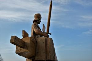 Vytauto Didžiojo kelio skulptūrėlė Senieji Trakai